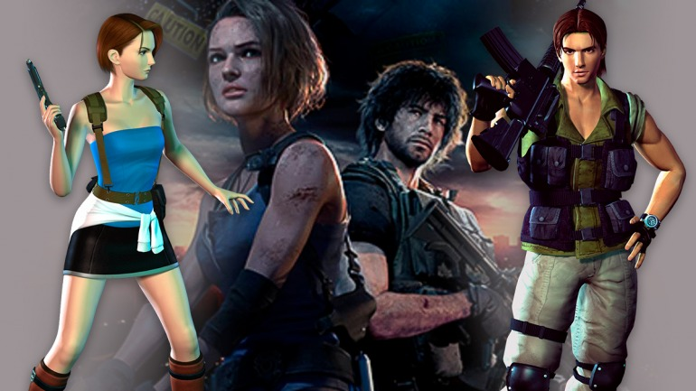 Apariencia de jill valentine y carlos oliveira de RE 3 antiguo y RE 3 remastered